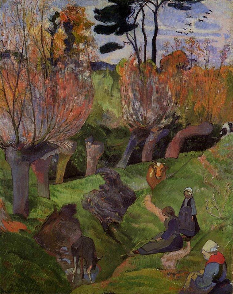 Paul Gauguin ,   les saules