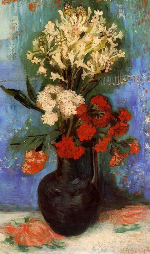 Vase avec asters et phlox, 1886   Vincent  VAN  GOGH