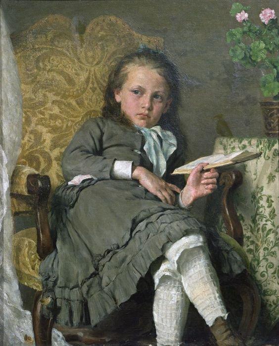 Erik Theodor WERENSKIOLD   ( 1855-1938 ) , norvégien   /  photo  :  le peintre et son fils