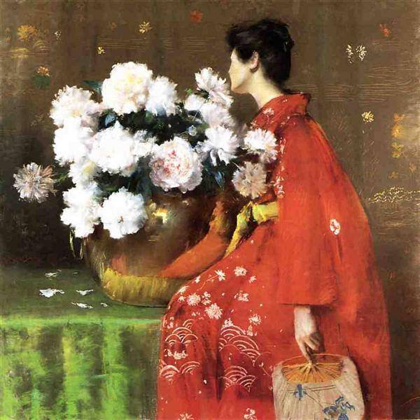 William Merritt Chase - pivoines