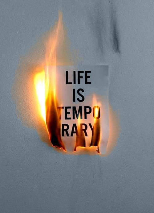 Life is temporary, so love it every moment!