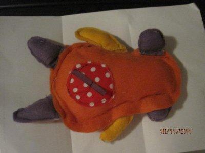 voici un premier doudou avec applique que j'ai fais RATTE !!!