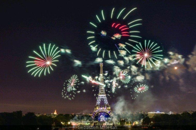 Le feu d artifice du 14 juillet 2019 ala tour eiffel
