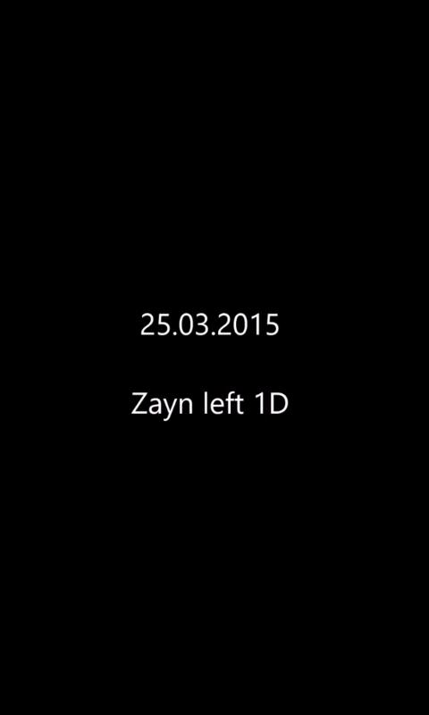 Zayn left