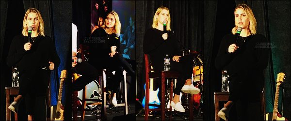 11/02/18 - Claire Holt s'est rendue à la convention The Vampire Diaries/The Originals  à Nashville, TN.   Claire était à cette convention avec ses co-stars Daniel Gillies et Joseph Morgan. La miss était toute mignonne, tenue simple, un top.