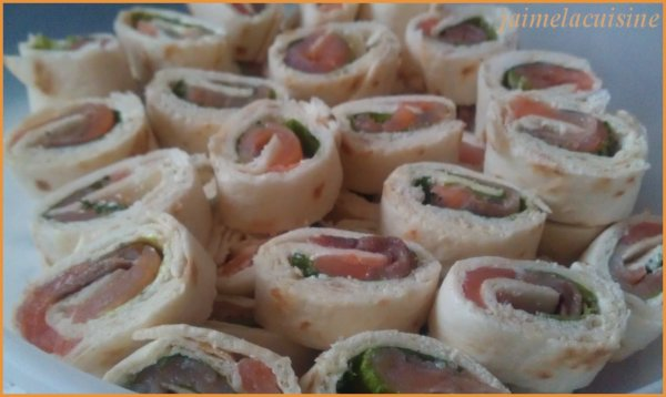 Wraps au saumon fumé pour l'apéro