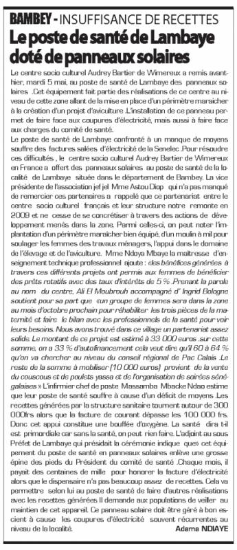 """Senegal 2015 : Quotidien """"Le Sud"""""""