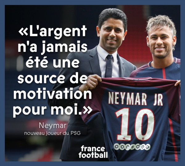 Les phrases fortes de la présentation de Neymar
