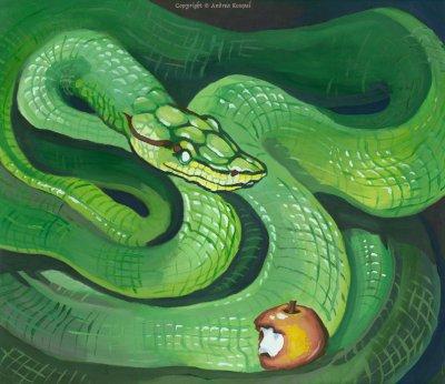 le serpent du jardin deden fantasy