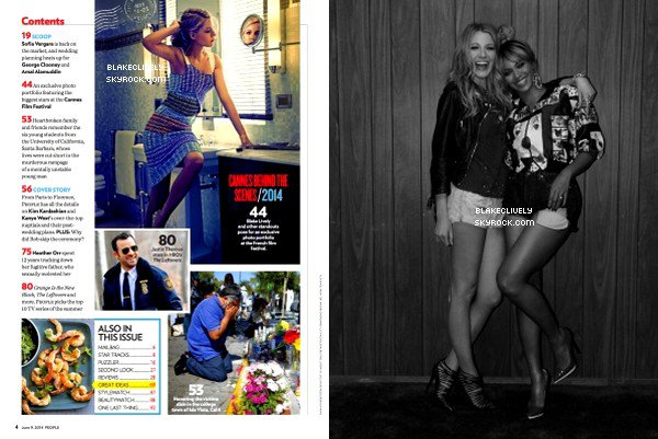 -  OO/O6/2O14 : Quelques scans de l'article de B. pour le Magazine People. -