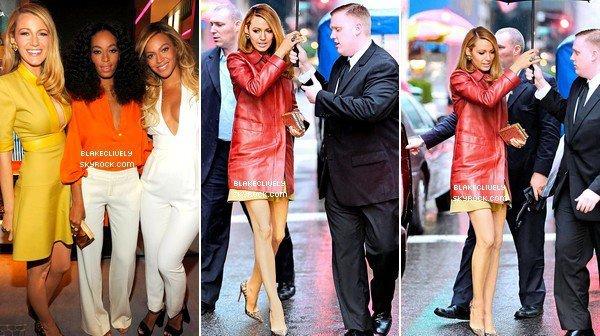 -  O3/O6/2O14 : B. photographiée au Gucci's Chime for Change sur la 5 Avenue de New York. -