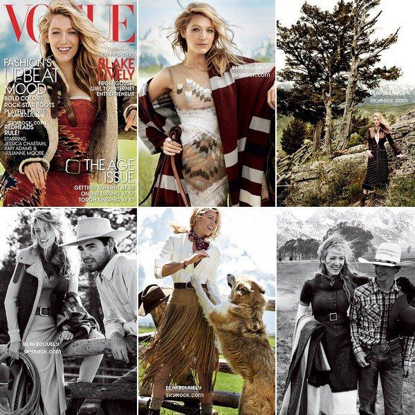 -  18/O7/2O14 : B. fera la couverture du Magazine Vogue du mois d'Août. -
