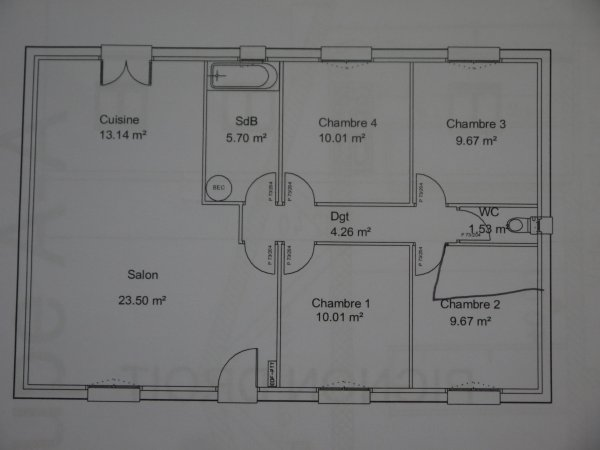 plan de notre maison début des travaux 11juillet 2011