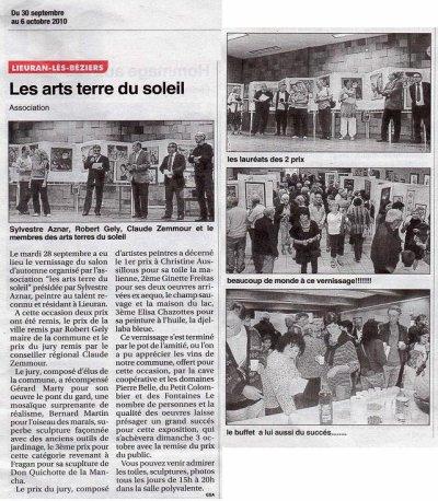 Article paru sur le petit journal du 30 septembre 2010