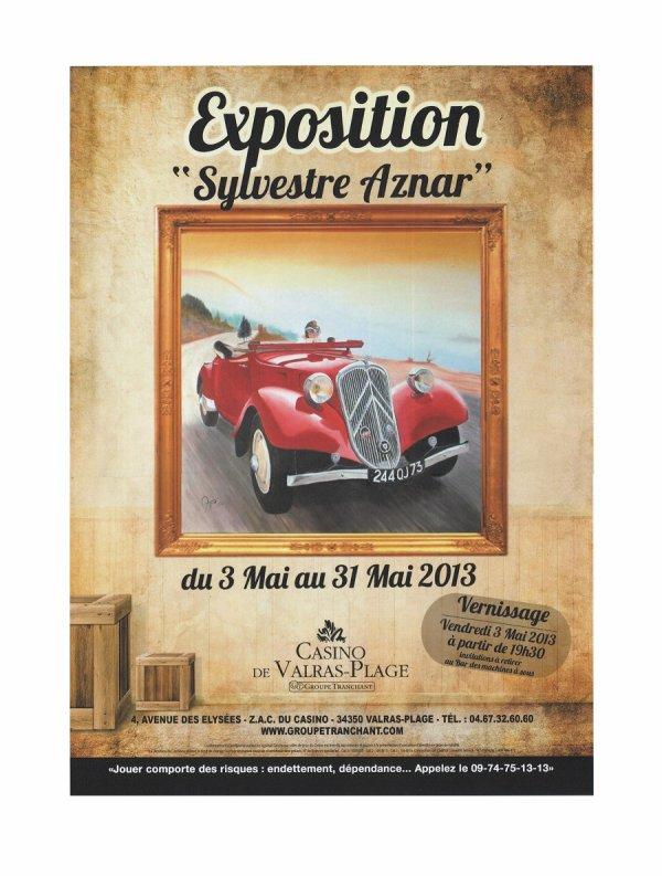 Exposition au Casino de Valras-Plage 34
