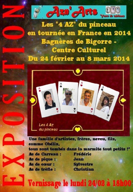 """Tournée en France des """" 4 AZ du pinceau"""""""