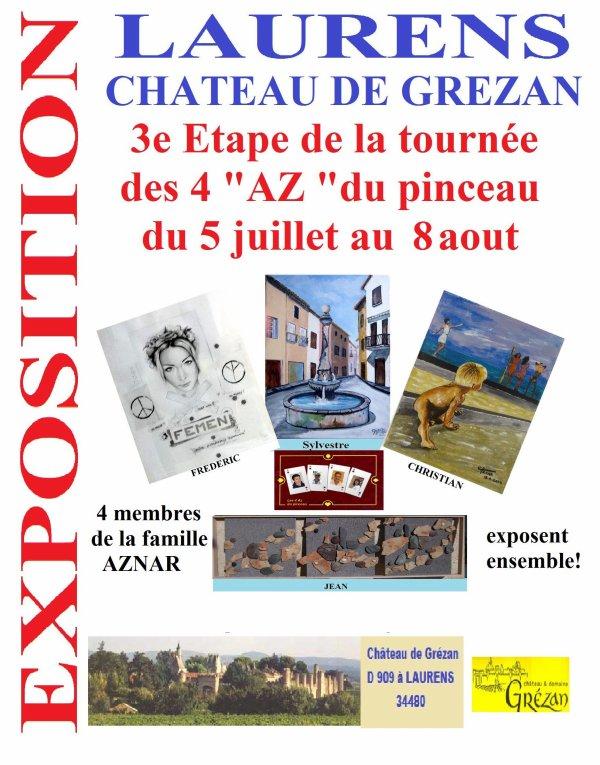 Exposition au Château de Grézan