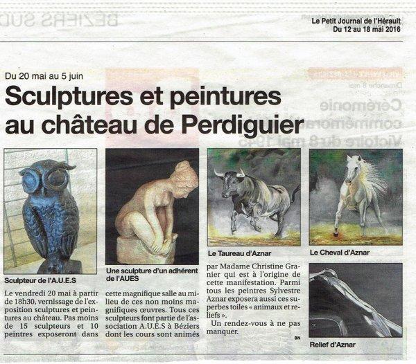 Château de Perdiguier! Du 20 mai au 5 juin 2016