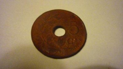 5 cent Albert 1er 1922