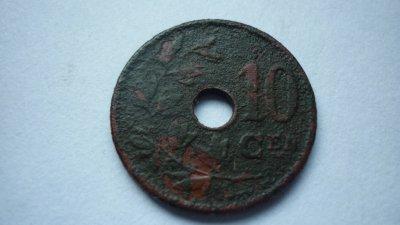 10 centimes Belgique Léopold 2  1904