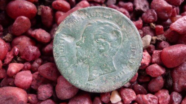 5 centimes, Vittorio Emanuele II