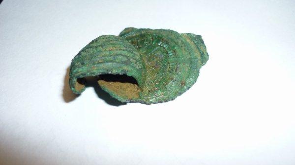 reste de fibule queue de paon , seconde moitiée du premier siècle