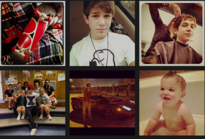 Austin Mahone New Instagram pics 2012