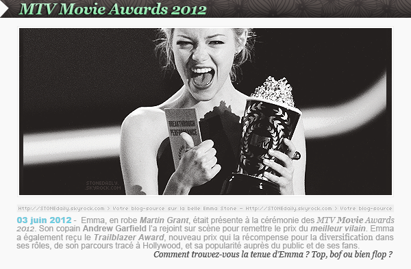 MTV Movie Awards 2012.