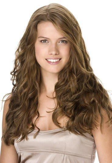 Cheveux long ondulé sans frange