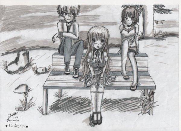 Stev, Shanna et Cait par Yasmine <3
