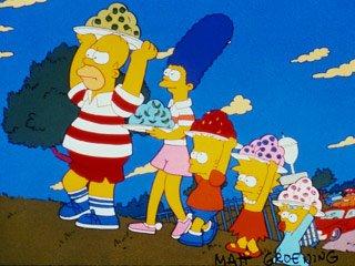 Homer, Marge, Maggie, Lisa et Bart