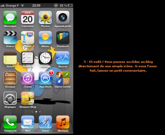 Application Simpson-Blog pour iPhone