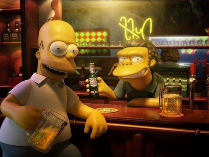 Homer et Moe