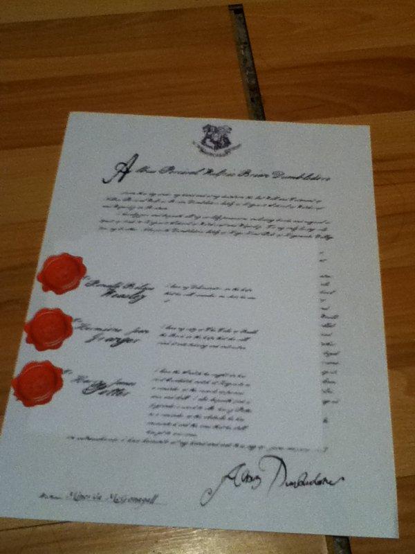 Création 6:Le testament d'Albus Perceval Wulfric Brian Dumbledore