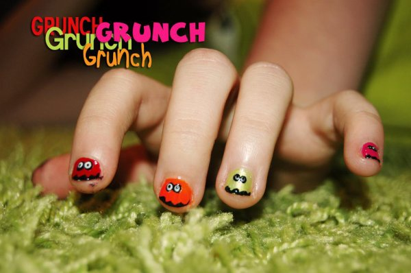 Nail Art - Pac man