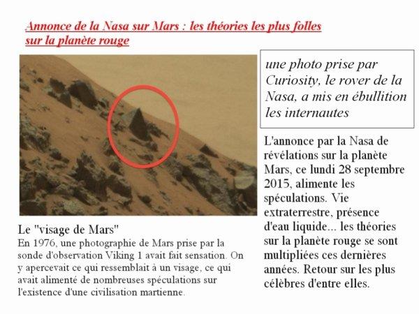 NEWS 2015 SUR MARS