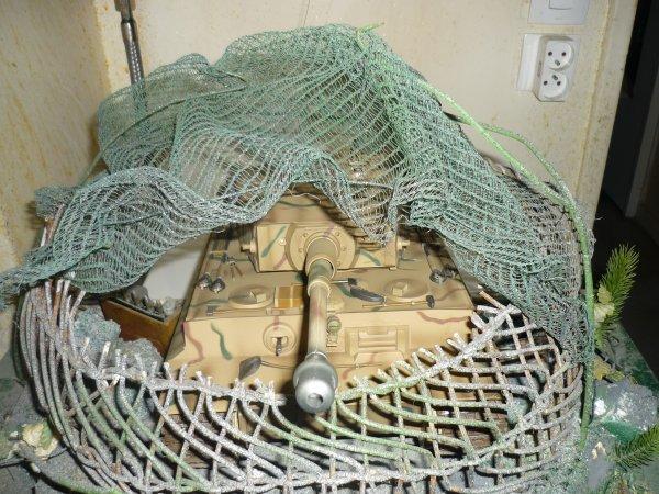 poste de tir avec camouflage!