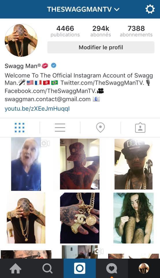 Follow me on my Instagram.com/TheSwaggManTV ??? @TheSwaggManTV. Très bientôt de nouveaux clips, de nouvelles photos, et pleins d'autres surprises comme des concours, des jeux à gagner, et la possibilitée de me rencontrer, suivez moi pour être tenu au courant...❤️ (SANS VOUS JE N'EXISTE PAS...❤️ LOV U LEY VREY)