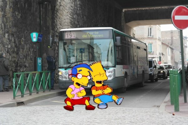 Le bus ratp avec bart simpson et milhouse van houten blog de ratp sami jerbi - Bart et milhouse ...