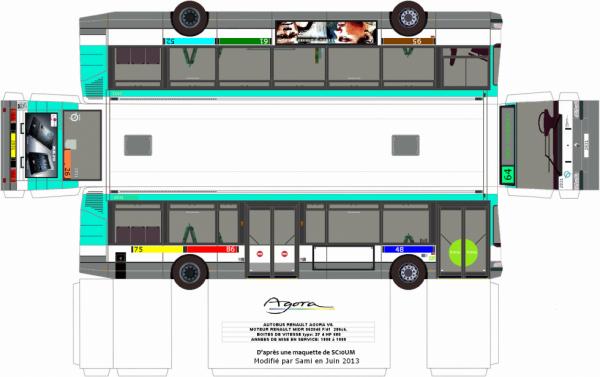maquettes de bus ratp des lignes 26 48 52 61 64 75 86 95 et de la ligne 293 blog. Black Bedroom Furniture Sets. Home Design Ideas