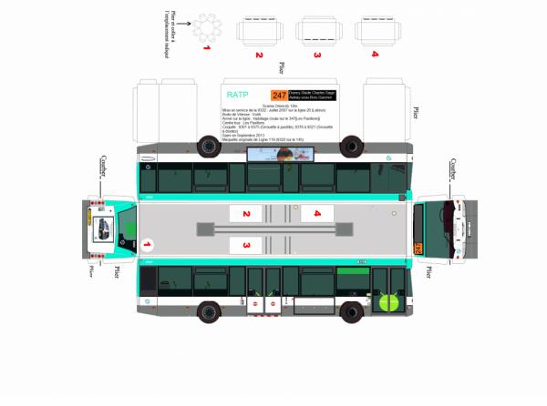 maquette de bus ratp ligne 247 en scania omnicity 12m coquille 9322 que c 39 est en habillage du. Black Bedroom Furniture Sets. Home Design Ideas