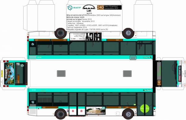 maquette de bus ratp de l 39 ancienne ligne 240 en man nl 223 non ufr coquille 9100 blog de ratp. Black Bedroom Furniture Sets. Home Design Ideas
