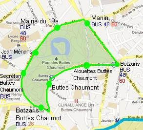 Carte Buttes Chaumont.Plan De La Navette Du Parc Des Buttes Chaumont Blog De Ratp Sami Jerbi