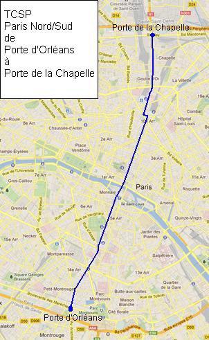 Plan du TCSP Nord/Sud de Porte d'Orléans à Porte de la Chapelle