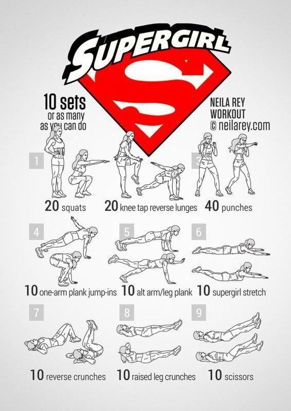 Workout de vos héroïnes préférées