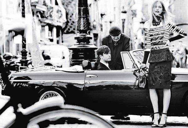 "EDITORIAL Vogue May 2014 ""Day Tripping"" Feat. James Blake & Sasha Pivovarova by Mario Testino"