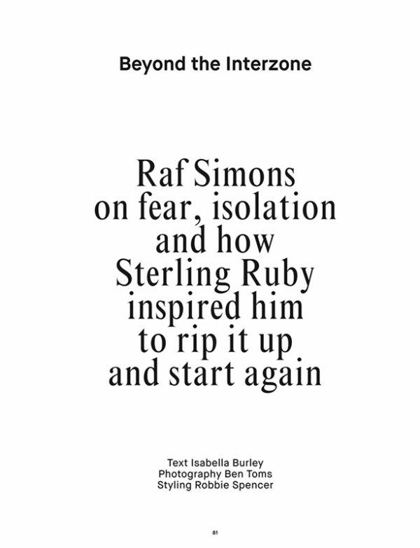"EDITORIAL Dazed Magazine Spring/Summer 2014 ""Beyond The interzone"" by Ben Toms"