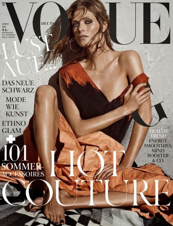 "COVER & EDITORIAL Vogue Germany May 2014 ""Ethno Glam"" Malgosia Bela by Giampaolo Sgura  2"