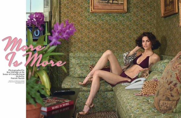 "EDITORIAL W Magazine May 2014 Special Sofia Coppola Edition ""More Is More"" Feat. Hilary Rhoda by Roe Ethridge"