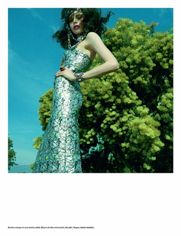 "EDITORIAL Numéro #153 ""Belle Plante"" Feat. Charlotte Kemp by Greg Kadel 2"